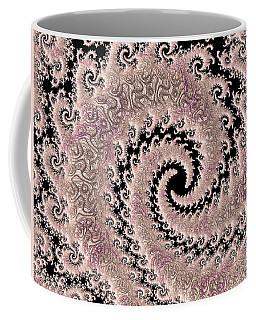 Swirly Pink Fractal Coffee Mug by Bonnie Bruno