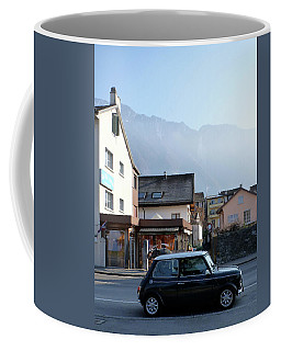 Coffee Mug featuring the photograph Swiss Mini by Christin Brodie