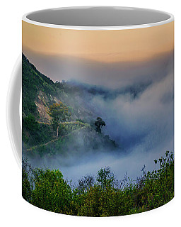Switchbacks In The Clouds Coffee Mug by Joseph Hollingsworth