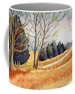 Coffee Mug featuring the painting Switchboard Rd by Katherine Miller