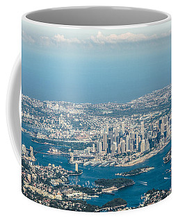 Coffee Mug featuring the photograph Sydney From The Air by Parker Cunningham