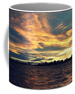 Sydney Harbour At Sunset Coffee Mug by Leanne Seymour