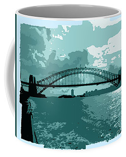 Sydney Harbour Fantasy In Blue Coffee Mug by Leanne Seymour
