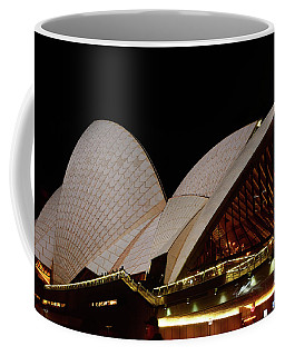Coffee Mug featuring the photograph Sydney Opera House Close View 2 By Kaye Menner by Kaye Menner