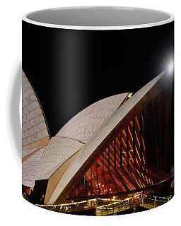 Coffee Mug featuring the photograph Sydney Opera House Close View By Kaye Menner by Kaye Menner