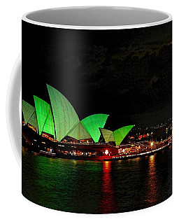 Coffee Mug featuring the photograph Sydney Opera House Vivid Festival Australia by Diana Mary Sharpton