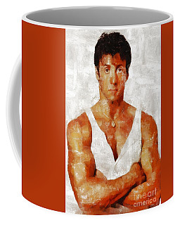 Sylvester Stallone, Hollywood Legend By Mary Bassett Coffee Mug
