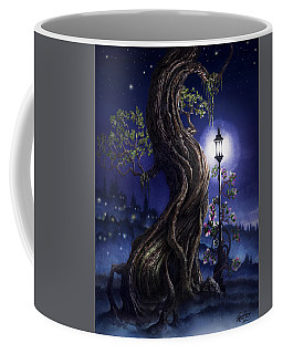 Coffee Mug featuring the painting Sylvia And Her Lamp At Dusk by Curtiss Shaffer