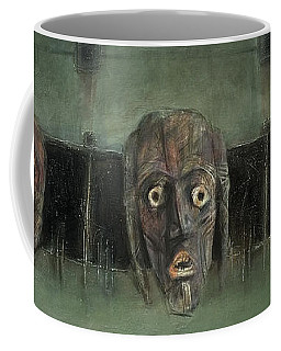 Symbol Mask Painting - 05 Coffee Mug by Behzad Sohrabi