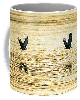 Synchronized Bald Eagles At Dawn 2 Of 2 Coffee Mug