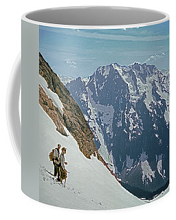 T-04402 Fred Beckey And Joe Hieb After First Ascent Forbidden Peak Coffee Mug