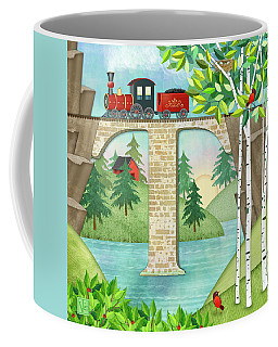 T Is For Train And Train Trestle Coffee Mug