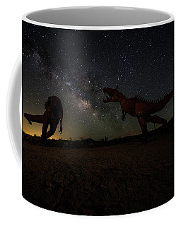 T Rex Death Match Coffee Mug