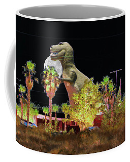 T-rex In The Desert Night Coffee Mug