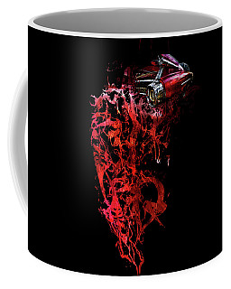 Coffee Mug featuring the photograph T Shirt Deconstruct Red Cadillac by Glenda Wright