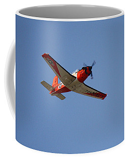 T34 Mentor Trainer Flying Coffee Mug