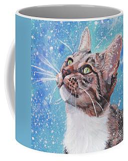Tabby Cat In The Winter Coffee Mug
