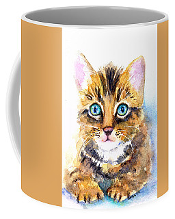 Tabby Kitten Watercolor Coffee Mug