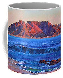 Table Mountain Aglow Coffee Mug by Anastasia Savage Ealy