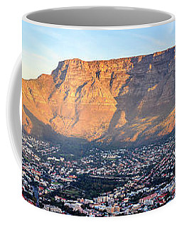 Coffee Mug featuring the photograph Table Mountain by Alexey Stiop
