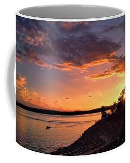 Coffee Mug featuring the photograph Table Rock Sunset by Cricket Hackmann