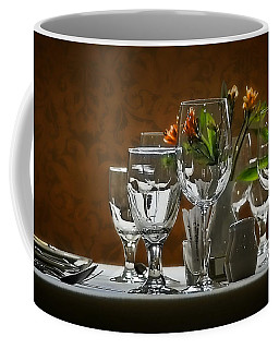 Coffee Mug featuring the photograph Table Setting by Joe Bonita