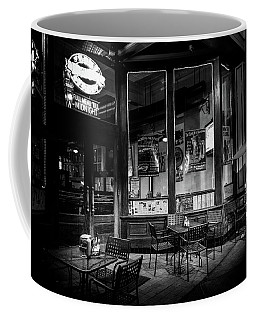 Tables At Night In Black And White Coffee Mug