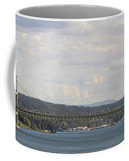 Tacoma Narrows Bridge Panorama Coffee Mug