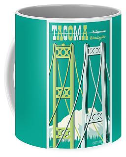 Tacoma Poster - Vintage Style Travel  Coffee Mug