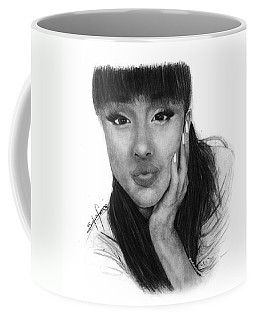 Ariana Grande Drawing By Sofia Furniel Coffee Mug by Sofia Furniel