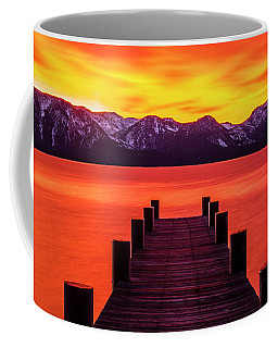 Tahoe Ablaze By Brad Scott Coffee Mug