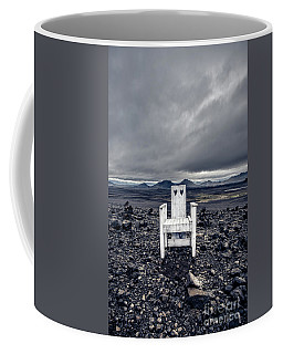 Coffee Mug featuring the photograph Take A Seat Iceland by Edward Fielding