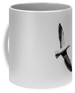 Take Flight, Black And White Coffee Mug