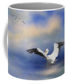 Coffee Mug featuring the photograph Take Off By The Sea by Kim Hojnacki