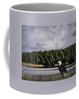 Coffee Mug featuring the photograph Taking A Break As Evening Falls by Diane Schuster