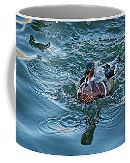 Taking A Dip, Wood Duck Coffee Mug