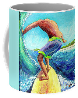 Coffee Mug featuring the painting Taking Off by Patricia Piffath