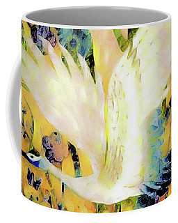 Taking Wing Above The Garden - Kimono Series Coffee Mug