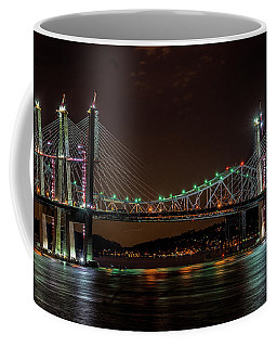 Tale Of 2 Bridges At Night Coffee Mug
