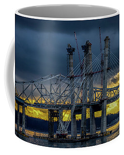 Tale Of 2 Bridges At Sunset Coffee Mug