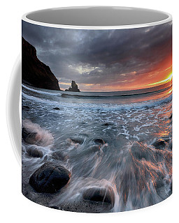 Coffee Mug featuring the photograph Talisker Bay Rocky Sunset by Grant Glendinning
