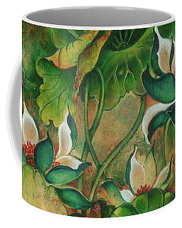 Coffee Mug featuring the painting Talks About The Essence Of Life by Anna Ewa Miarczynska