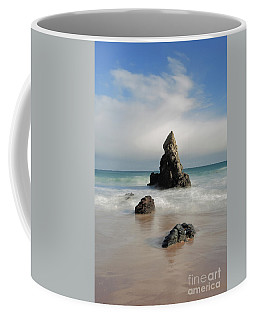 Coffee Mug featuring the photograph Tall And Proud On Sango Bay by Maria Gaellman