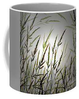 Coffee Mug featuring the digital art Tall Grass And Sunlight by James Williamson