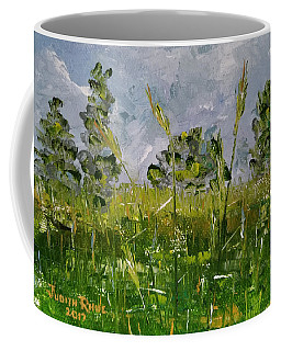 Coffee Mug featuring the painting Tall Grass by Judith Rhue
