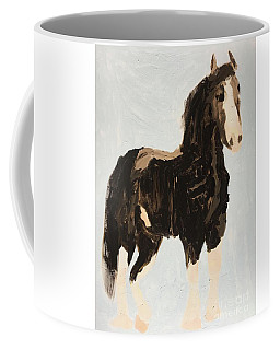 Coffee Mug featuring the painting Tall Horse by Donald J Ryker III