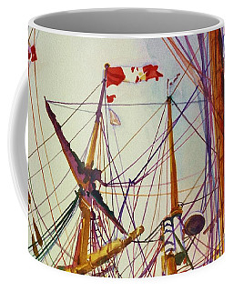 Tall Ship Lines Coffee Mug