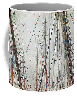 Coffee Mug featuring the photograph Tall Ships And Schooners Rigging And Masts  by Joann Vitali