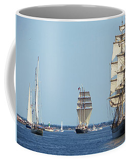 Coffee Mug featuring the photograph Tallships At Aarhus by Dutch Bieber