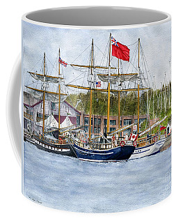 Coffee Mug featuring the painting Tall Ships Festival by Melly Terpening
